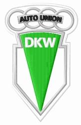 Opstrijkembleem Met Dkw Auto Union Logo