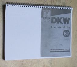 Onderdelenboekje DKW- Frontwagen F8