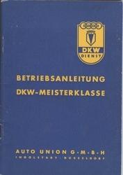 Betriebsanleitung DKW-Meisterklasse mit Vierganggetriebe.