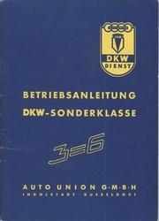 Betriebsanleitung DKW-Sonderklasse Dreizylinder.