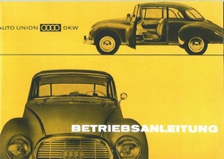 Betriebsanleitung fur Ihren Auto Union 1000/CoupeS/Limousine