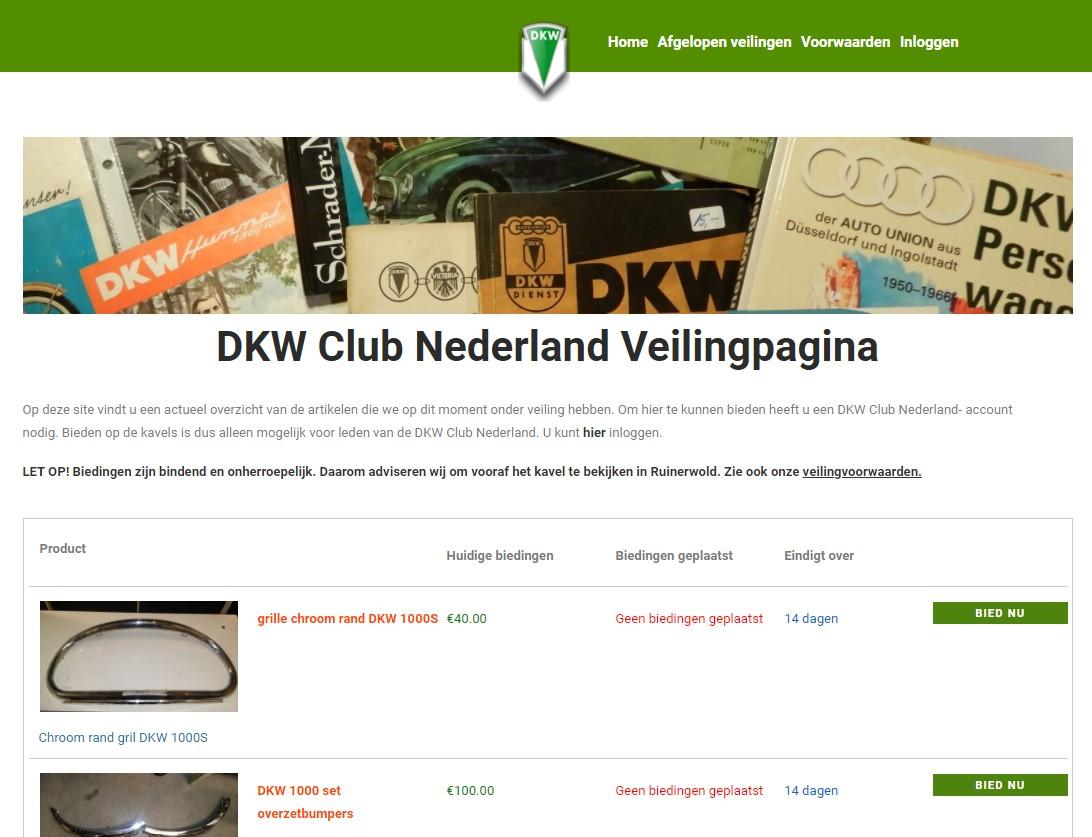 DKW Club start Veilingsite